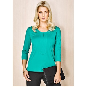 Abby 3/4 Sleeve Ladies Knit Top