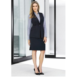 Womens Long Line Sleeveless Jacket