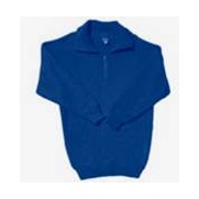 Wool Mix Pullover With 1/2 Zip & Collar