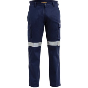 3M Taped Cotton Drill Cargo Work Pant -Stout